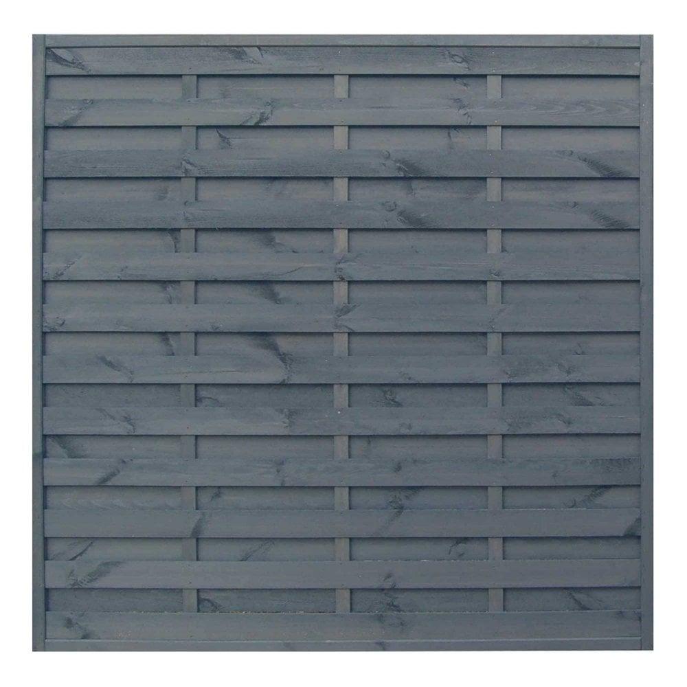 Sorrento Plain Top Wooden Garden Fence Panel 6 x 6