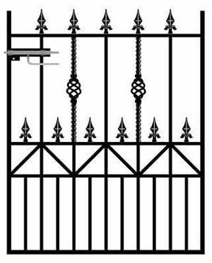 Royal Ascot Wrought Iron Style Garden Gate