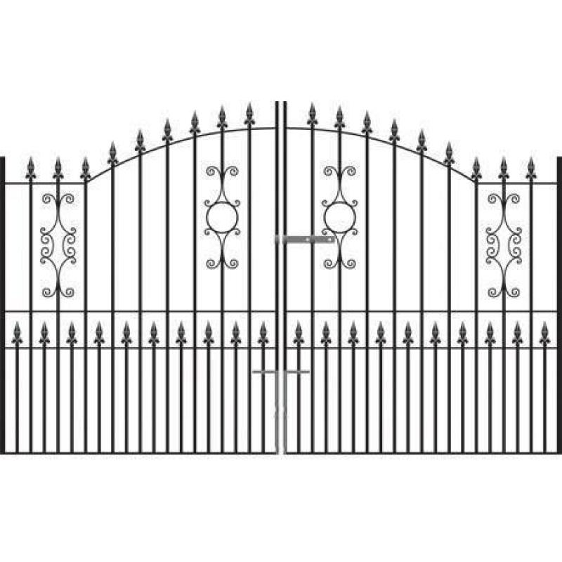 Royale Grange Wrought Iron Style Estate Gates
