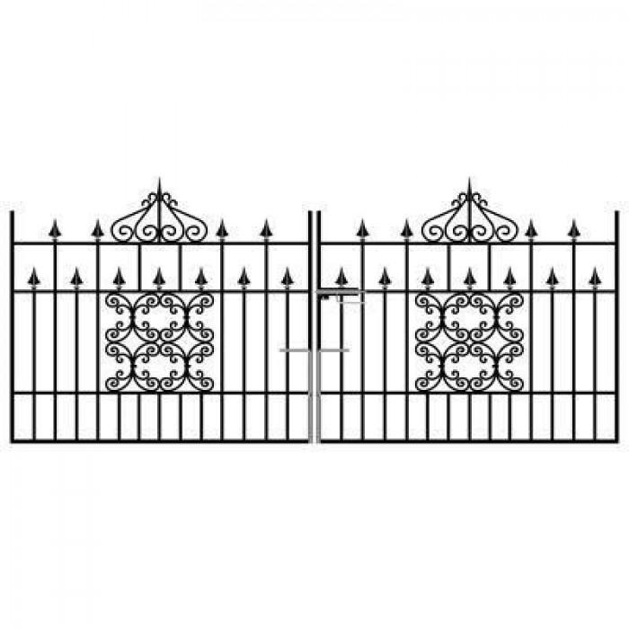 Royal Monarch Wrought Iron Style Driveway Gates