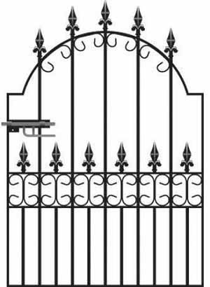 Royale Premier Wrought Iron Style Garden Gate