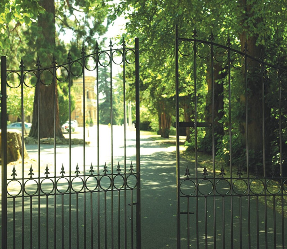 Royale Talisman Arched Wrought Iron Style Estate Gates