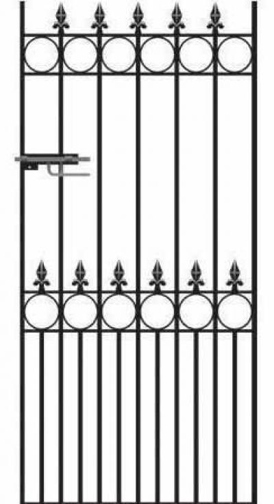 Royal Talisman Wrought Iron Side Gate