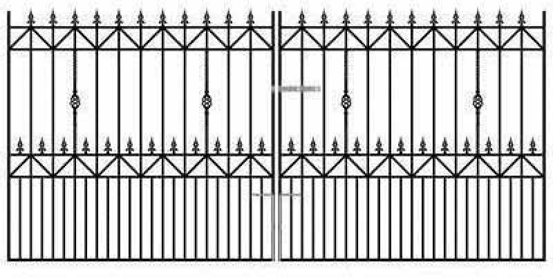 Royal Ascot Wrought Iron Style Estate Gates