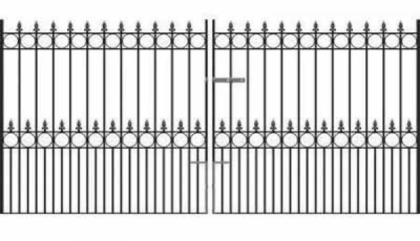 Royal Talisman Wrought Iron Style Estate Gates
