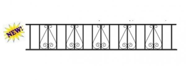 Stirling Wrought Iron Style Metal Garden Railings