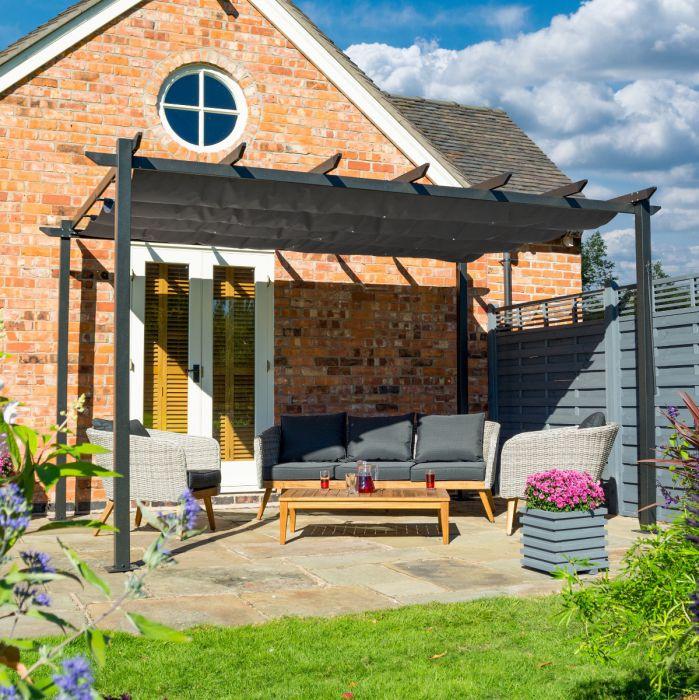 Venetian Aluminium Pergola & Garden Sun Canopy