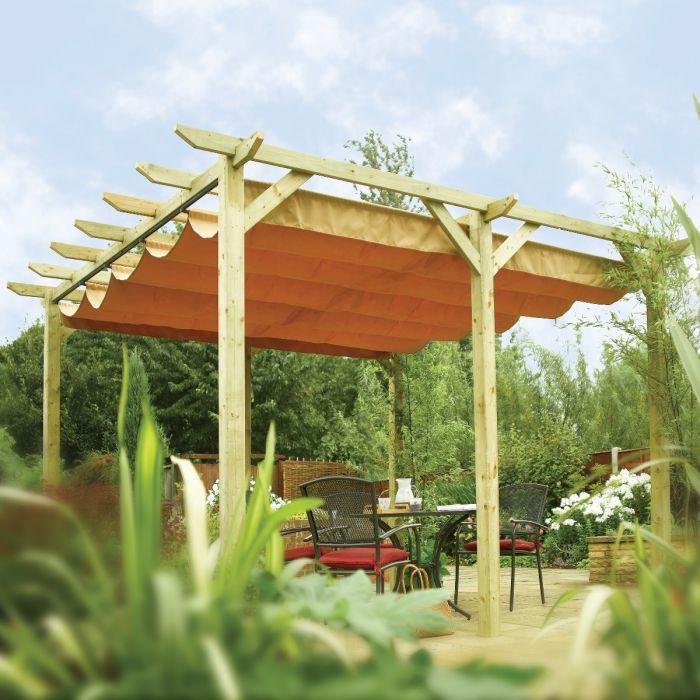 Verona Wooden Pergola & Retractable Sun Canopy