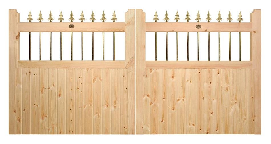 Vertifleur Wooden Driveway Gates | 4ft High