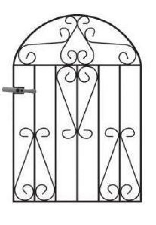 Winchester Arched Metal Garden Gate