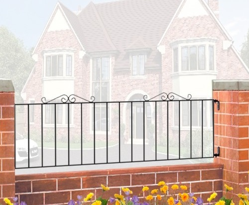 Winchester Wrought Iron Style Metal Garden Railings