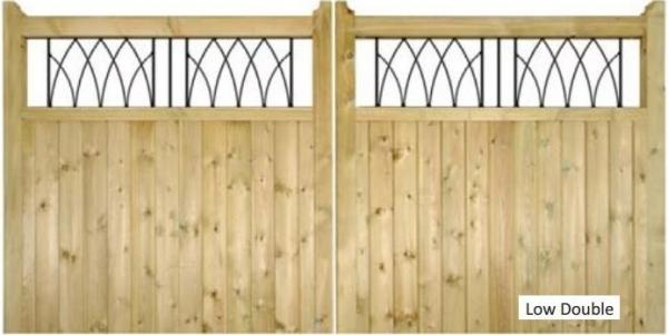 Windsor Wooden Driveway Gates | 1.2m High